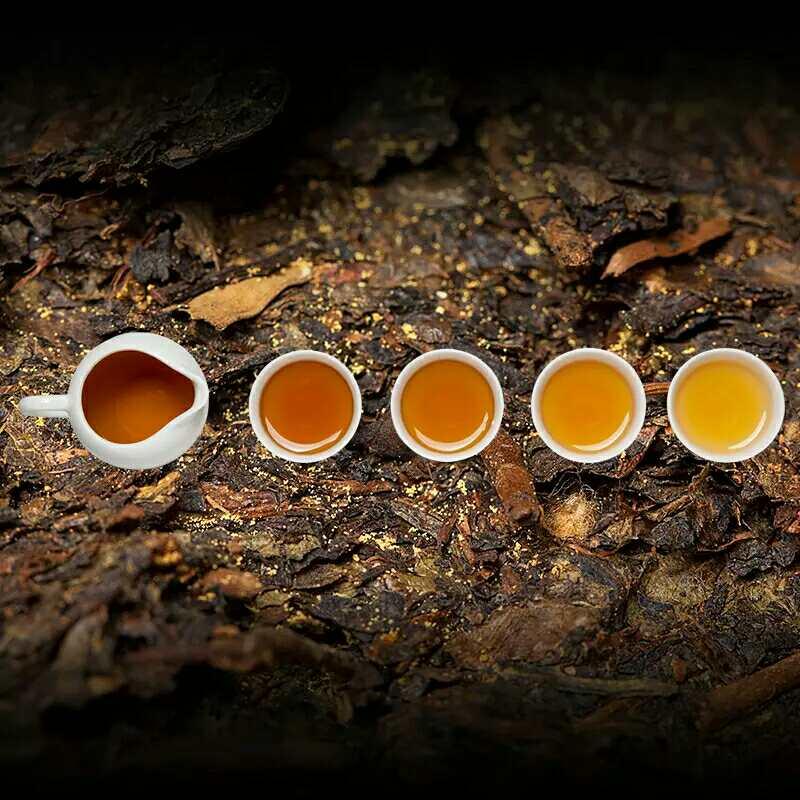 湘益茯茶一帆风顺660g礼盒装湖南特产老安化黑茶金花茯砖茶天尖茶