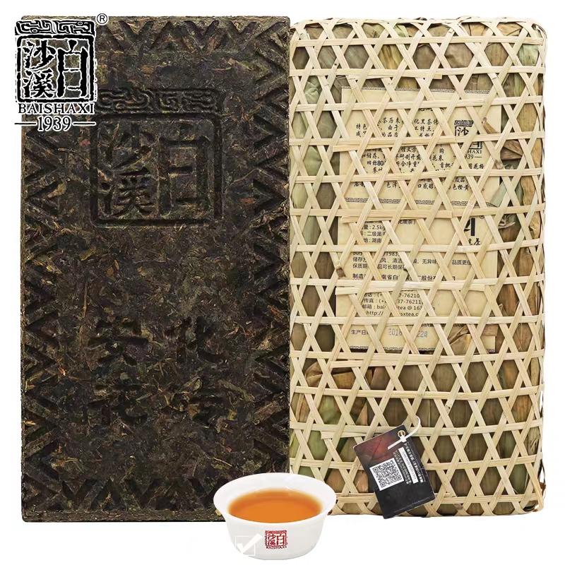 白沙溪篾篓花砖茶2.5kg 原生态包装
