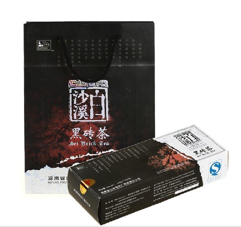 白沙溪精品黑砖茶600克盒装