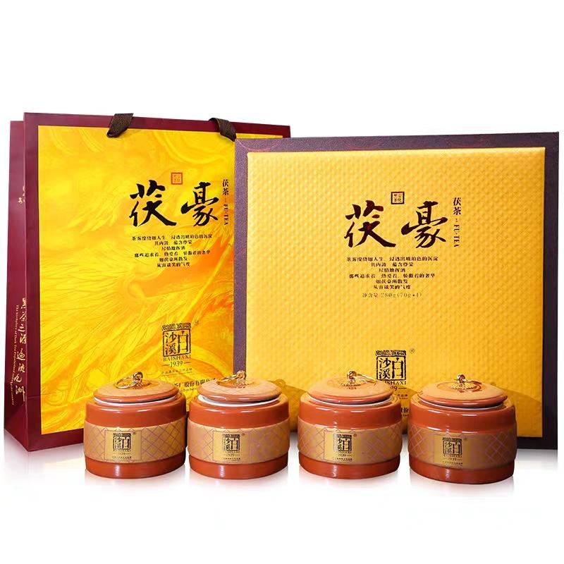 金花散茶茯豪礼盒装  特级料散茶