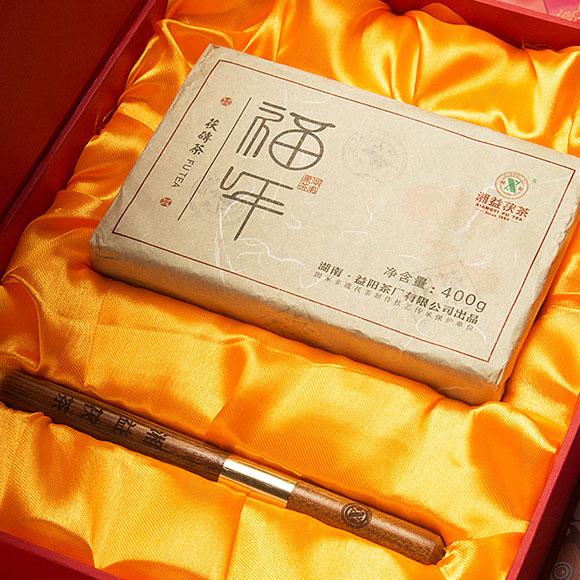 湘益福年茯茶400克 黑茶随手礼盒装